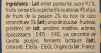 Fromage blanc aux fruits - Ingrédients - fr