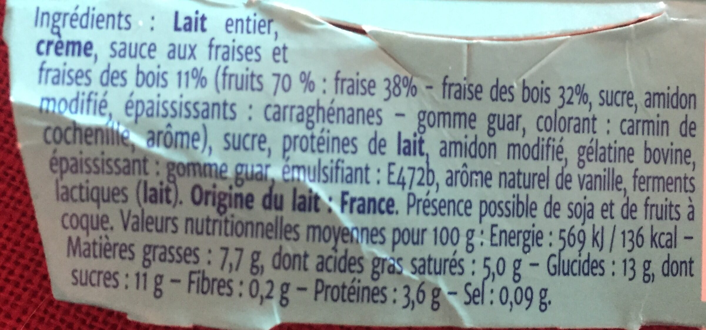 Coeur de fruit fraise des bois - Ingrédients - fr