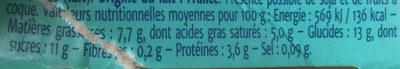 Coeur de fruit fraise des bois - Informations nutritionnelles - fr