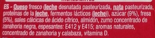 Petit Maxi Fresa - Ingredients - es