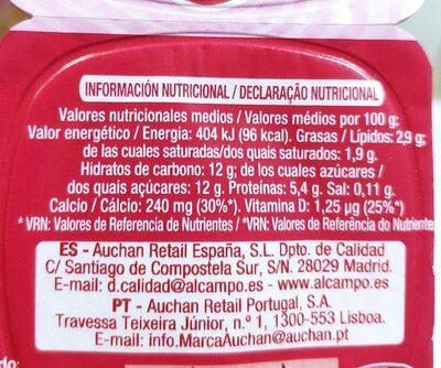 Petit Maxi Fresa - Informació nutricional - es