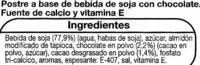 Postre de soja con chocolate - Ingredientes
