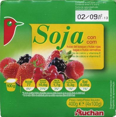 """Postre de soja """"Auchan"""" con frutas del bosque - Product"""