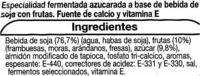 """Postre de soja """"Auchan"""" con frutas del bosque - Ingredientes"""