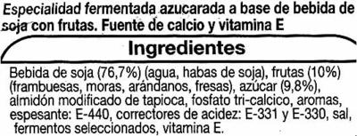 """Postre de soja """"Auchan"""" con frutas del bosque - Ingredients"""