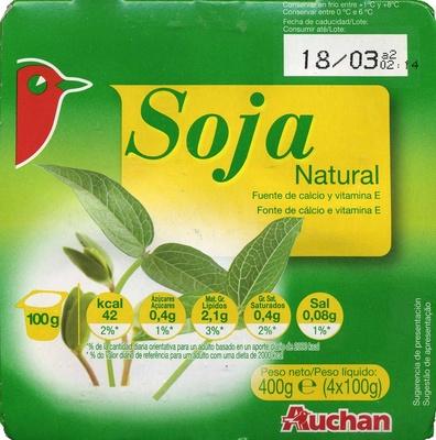 Yogur de soja natural Auchan - Produit