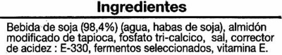 Yogur de soja - Ingredients - es
