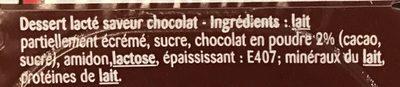 Lait gélifié aromatisé Chocolat - Ingredients