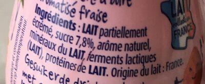 Yaourt à boire Fraise - Informations nutritionnelles