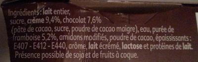 Gourmand crème Chocolat Framboise - Ingredients - fr