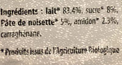 Dessert de lait gelifié et aromatisé Noisettes - Ingrédients - fr