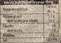 Dessert de lait gelifié et aromatisé Noisettes - Informations nutritionnelles