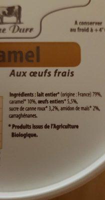 Flan caramel - Ingredients - fr