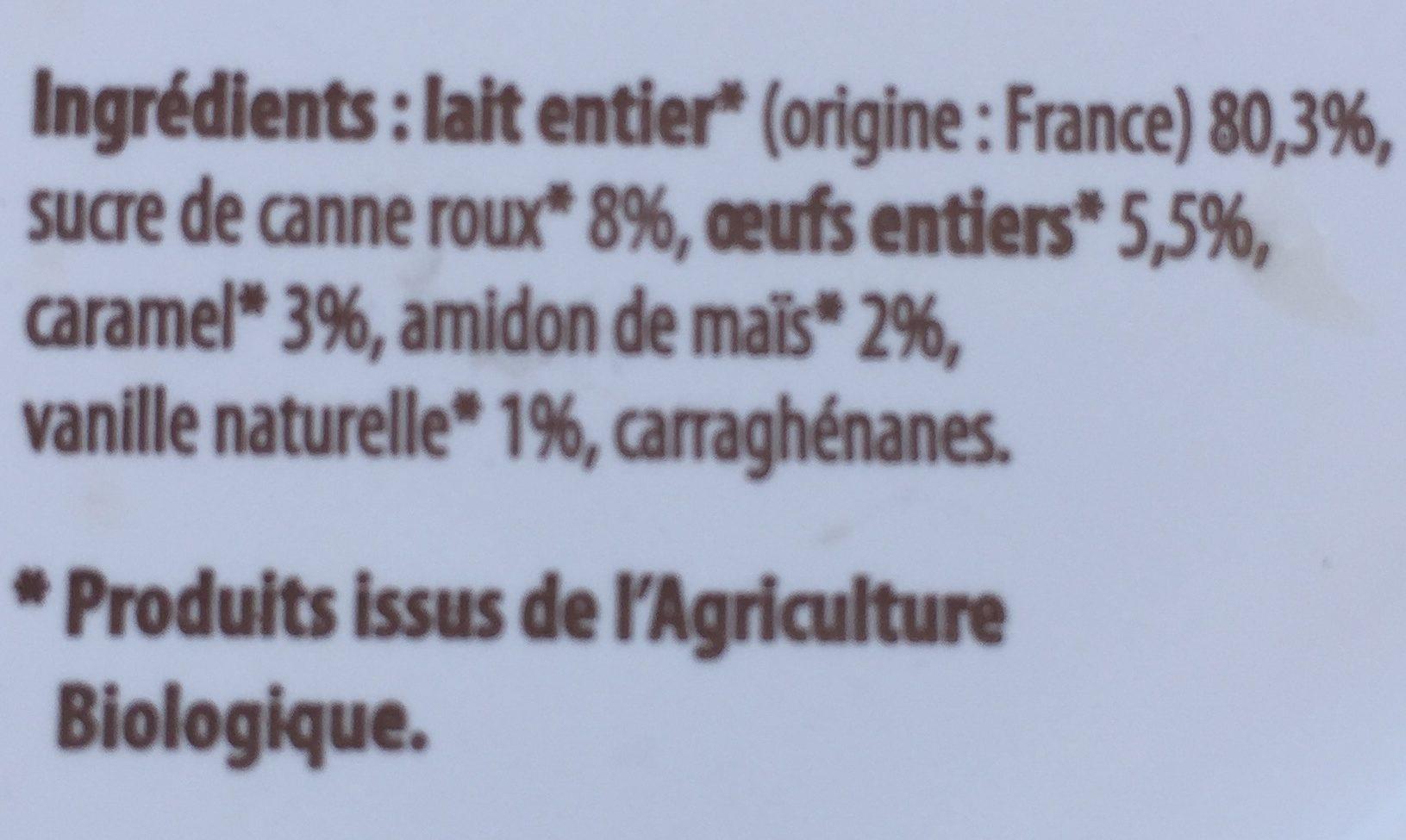 Flan bio - Ingredients - fr