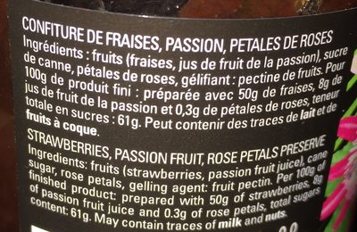 Confiture d'amour - Ingredients