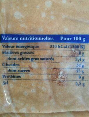 Crêpes fraiches - Nutrition facts - fr
