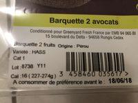 Avocat - Ingrédients - fr