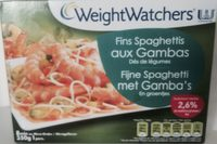 Fins spaghettis aux gambas - Product