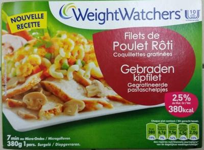 Filets de Poulet Rôti, Coquillettes gratinées - Produit - fr