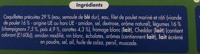 Filets de Poulet Rôti, Coquillettes gratinées - Ingrédients - fr