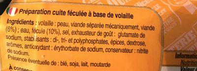 500G Saucisson Poulet Halal - Ingredients