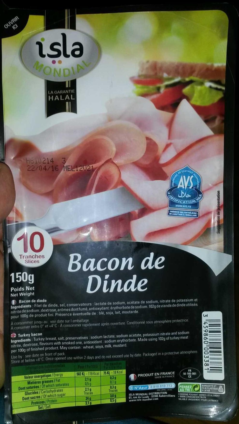 Bacon de Dinde - Produit - fr