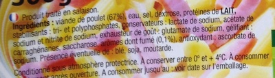 Allumettes de poulet - Ingrédients - fr
