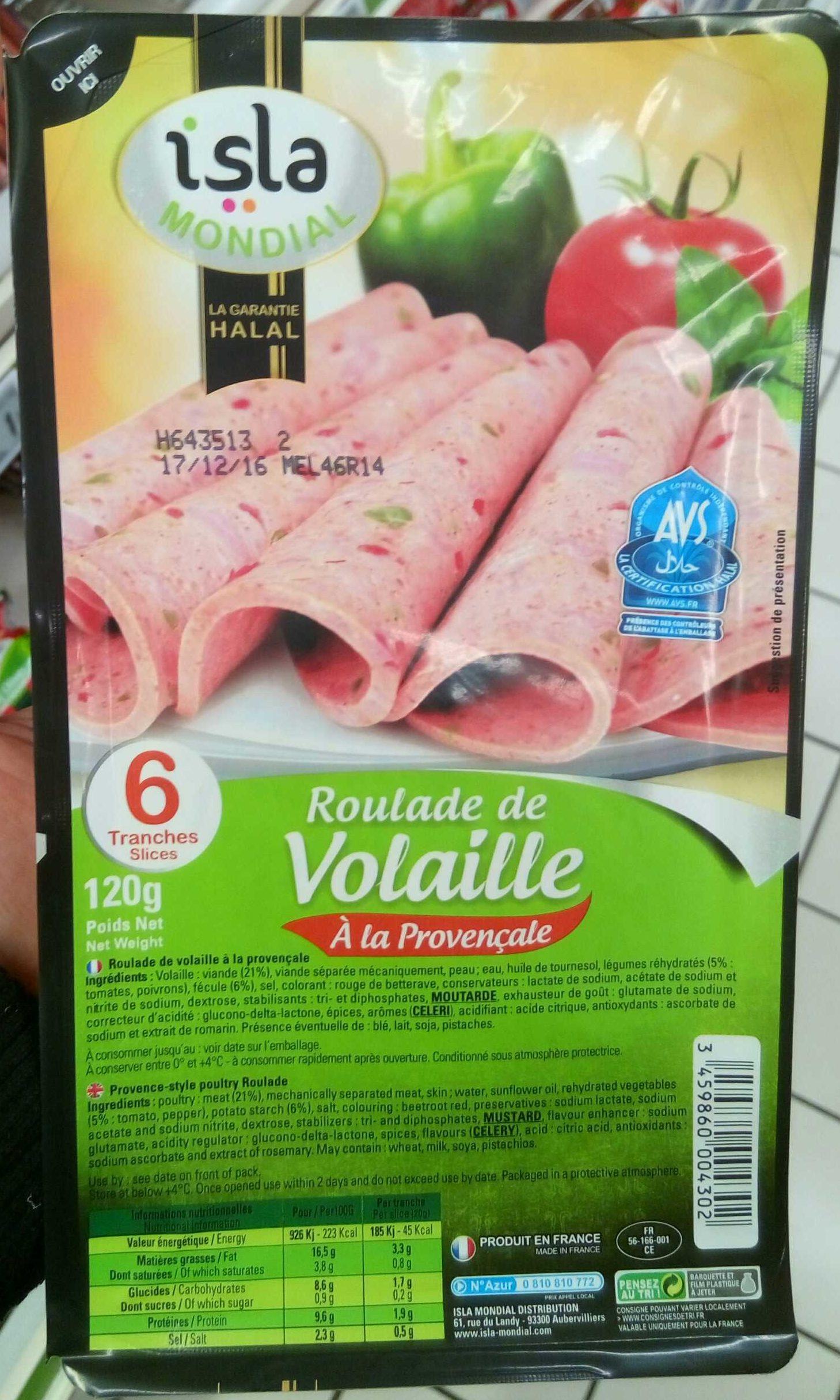Roulade de volaille à la Provençale - Produit - fr