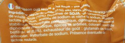 Saucisson à l'ail fumé - Ingrédients - fr