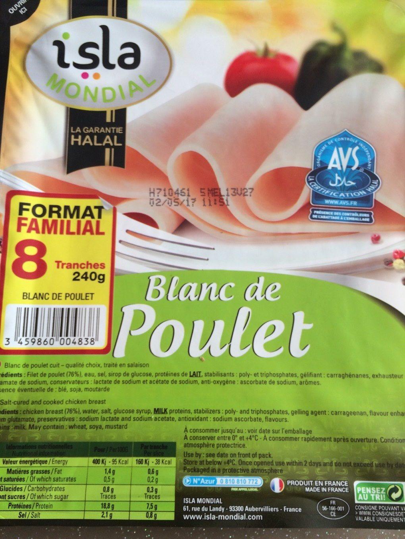 Blanc de poulet - Produit