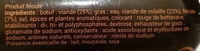 Saucisson halal cuit volaille Isla - Ingrédients - fr