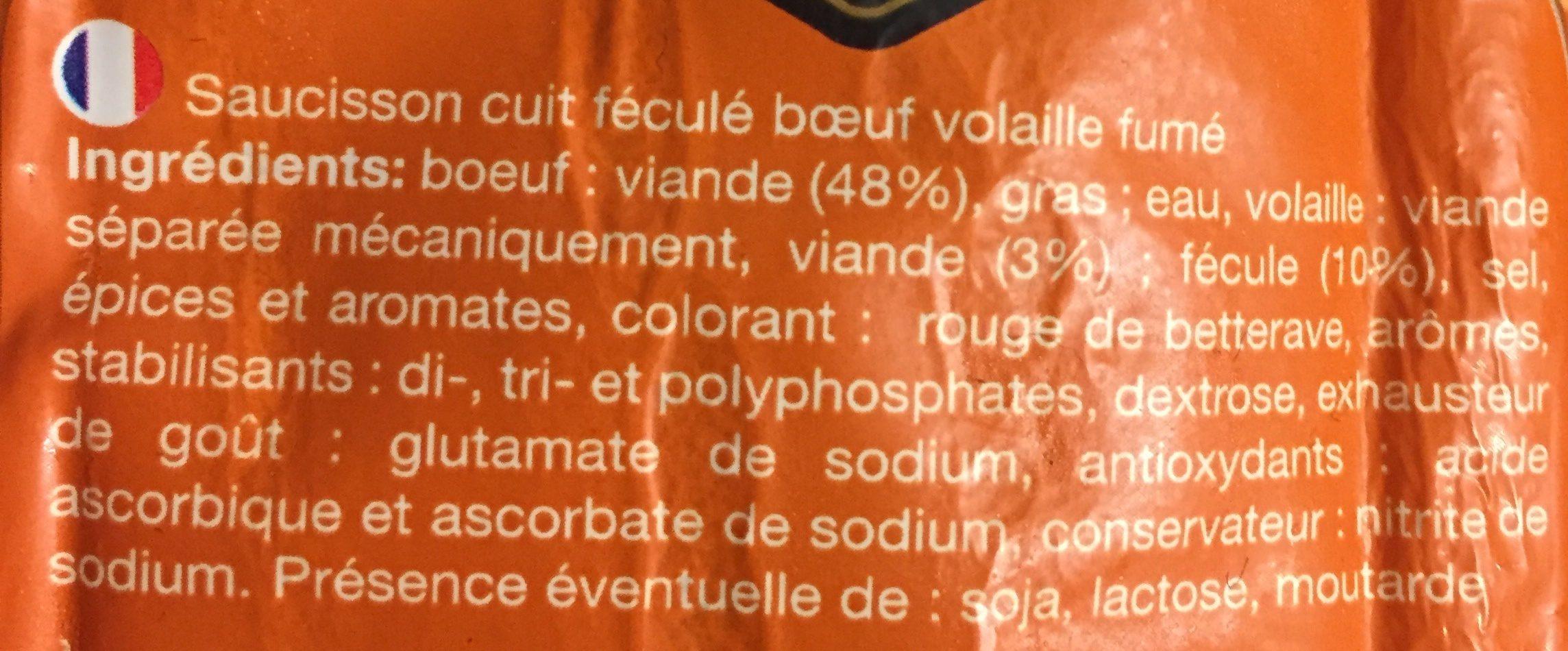 Saucisson cuit - Ingrédients