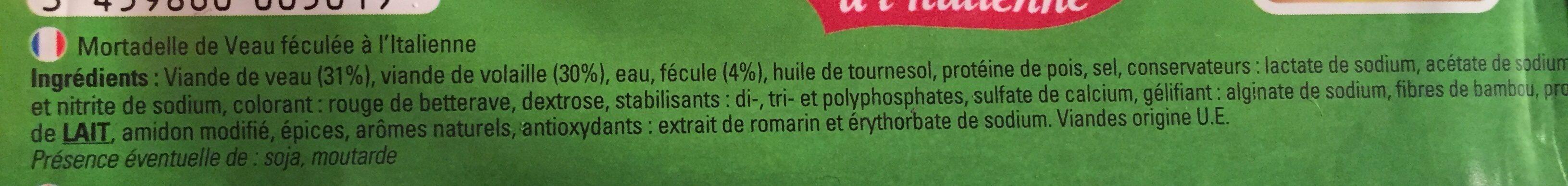 Mortadelle de veau - Ingrédients - fr