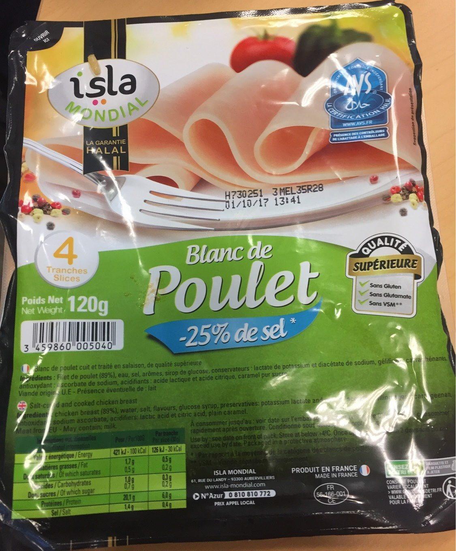 Blanc de poulet - Isla Mondial - 120 g