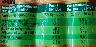 Cheesy snack's - Nutrition facts