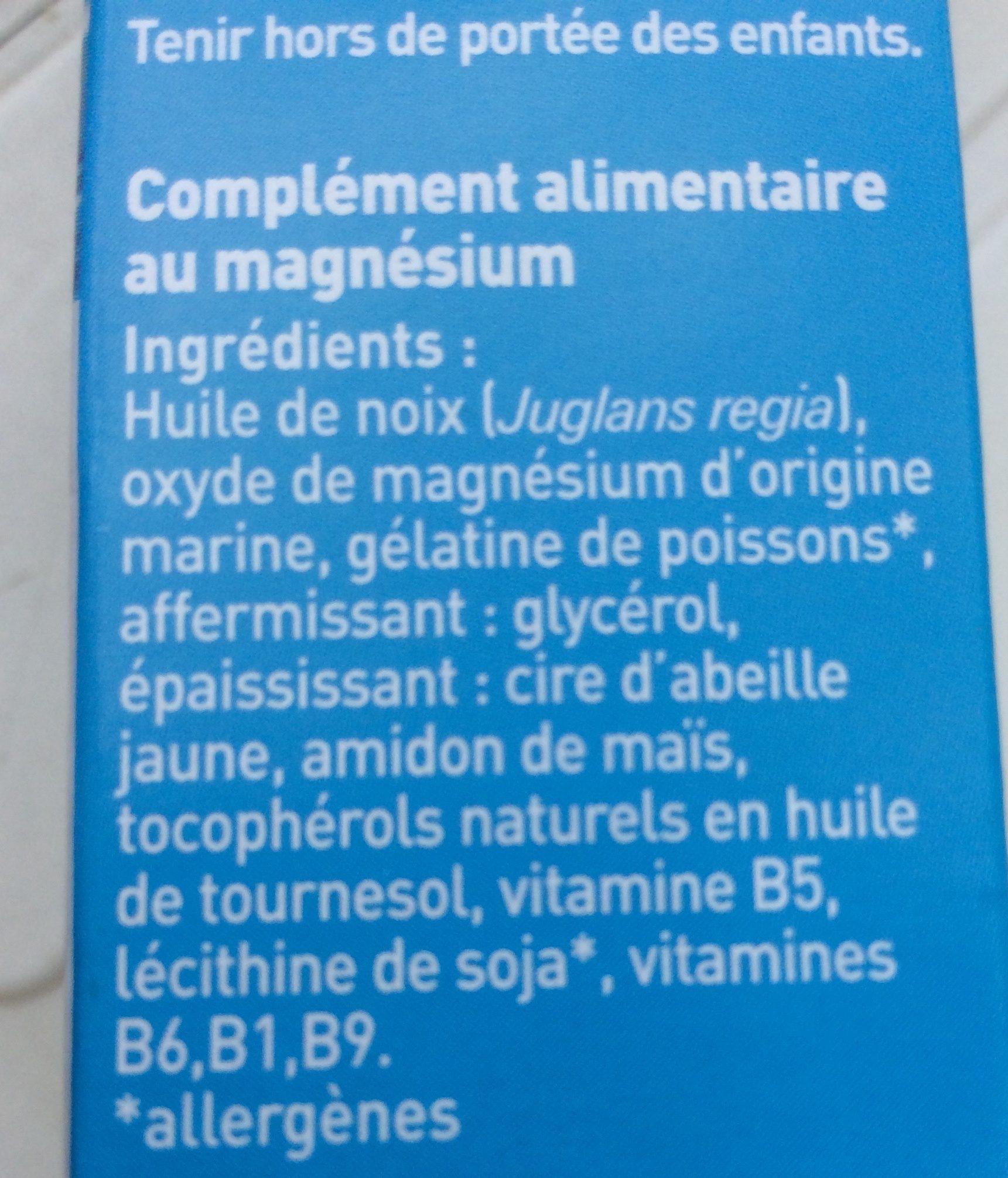 Complexe Magnesium Marin B6 - 60 Capsules - Dietaroma - Ingredients
