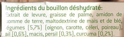 BOUILLON DE LEGUMES ALLEGE EN SEL - Ingredients