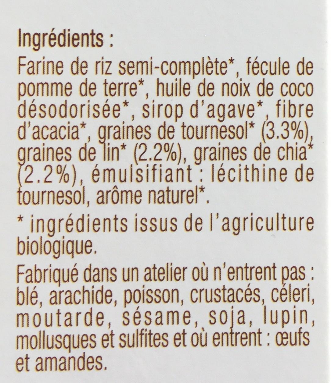 Sablés au Tournesol, Lin, Chia - Ingredients - fr