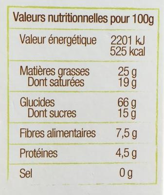 Sablés au Tournesol, Lin, Chia - Nutrition facts - fr
