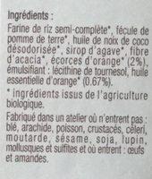 Sablés aux écorces d'orange - Ingredients - fr