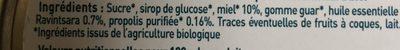 Santé & Bien-être / Nez - Gorge - Oreille / Gorge Irritée - Ingredients