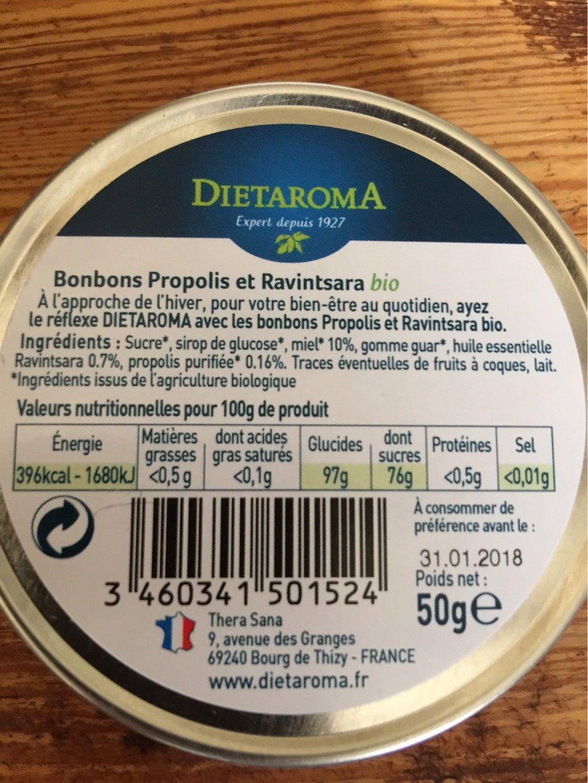 Santé & Bien-être / Nez - Gorge - Oreille / Gorge Irritée - Nutrition facts