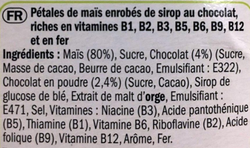 Corn Fakes Choco - Ingredients - fr