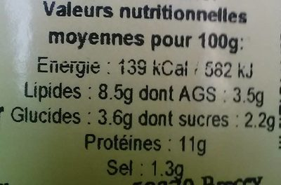 Paupiettes Normandes et ses Petits Légumes - Informations nutritionnelles