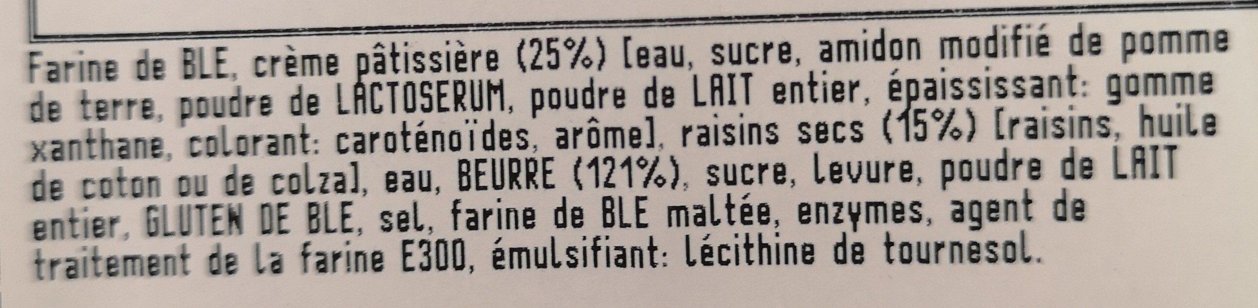 Pain aux raisins x6 - Ingrédients - fr