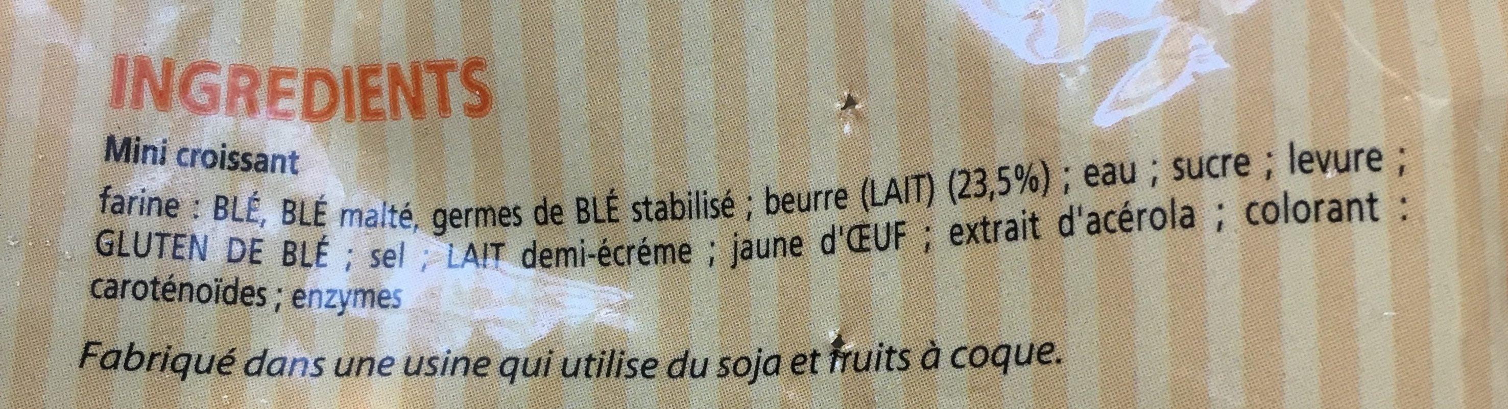 Mini croissants - Ingredients - fr
