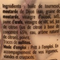 Mayonnaise artisanale - Ingredients - fr
