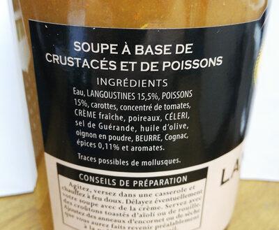 Soupe de Langoustines à la Boulonnaise - Ingrédients