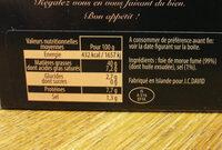 Foie de morue fumé - Ingrediënten