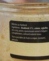 Rillettes de haddock - Ingredients